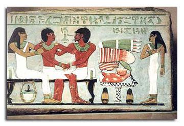 ツタンカーメン墓の中壁画