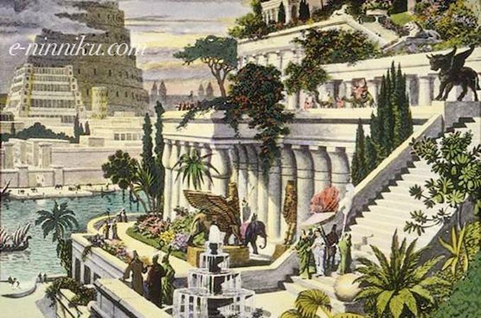 バビロンの宮中庭園写真