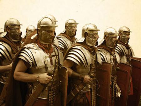 古ローマ時代兵士写真